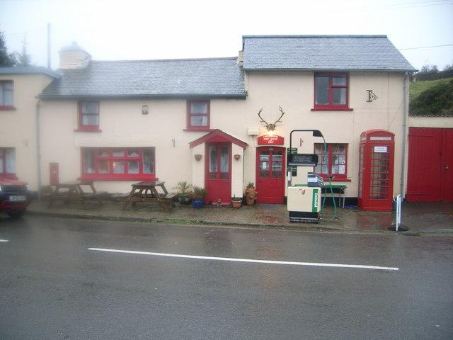 Challacombe Post Office & Telephone kiosk