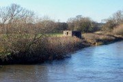 River Dove with Pillbox a reminder of WW2