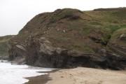 West end of Porth Ceiriad beach