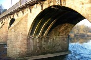 The under side of an arch of Bothwell Bridge