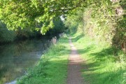 Sheltered towpath