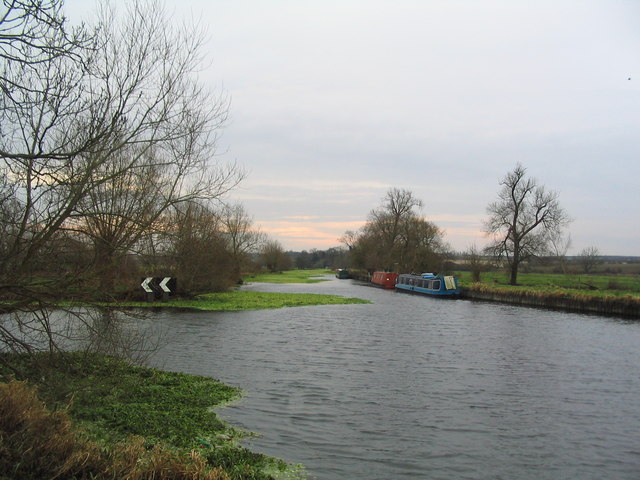 Junction of the Grand Union Canal and the River Soar