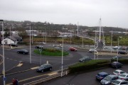 Pedestrian bridge and roundabout