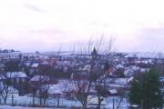 Snowy dusk over East Linton