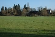 Deerhurst viewed from the riverbank
