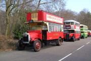 Vintage Buses at Longcross Test Track.