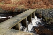 The weir bridge to Rhodeswood Reservoir