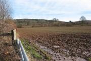 Waterlogged farmland by the Ledbury bypass