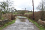 Flooded minor road