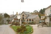 The forecourt of the Blisland Inn
