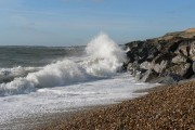 Barton on Sea: pounding waves