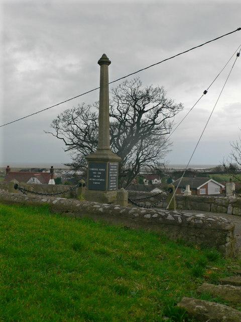 War Memorial, Gronant