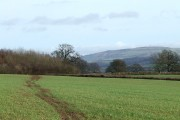 Footpath and Brown Clee, Shropshire