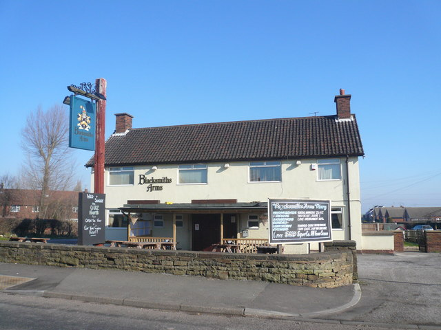 Calow - The 'Blacksmiths Arms' on Blacksmith Lane