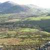 Farmland on the lower slopes of Yr Eifl Hills