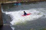 Canoeists at Hammoon Weir