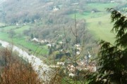 Looking down on Brockweir