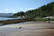 Beach on Loch Aline walking towards Sand Mine