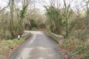 Road bridge over stream below Ash Farm
