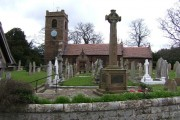 St. Bartholomew's Church,and War Memorial, Great Barrow