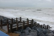'New' steps to beach on stormy day