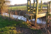 Footbridge over a dyke leading to the Lugg.