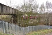 Avenue Washlands - Railway view from Footpath