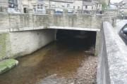 The river bridge at Victoria Square, Holmfirth