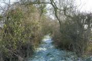 Start of rural footpath