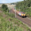Southbound timber train at Greenholme