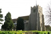 All Saints Ashdon from the north