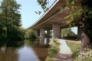 Motorway bridge over the River Wey
