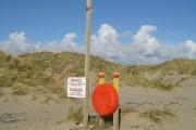 Safety Equipment on Dune Edge