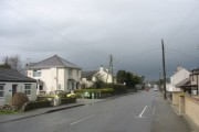 A showery Gaerwen looking west along the A5