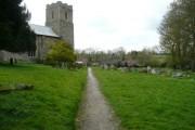 Footpath through Badingham churchyard