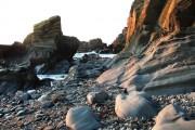 Glen Maye, beach, evening sunlight