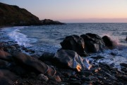 Glen Maye, beach, evening sunlight