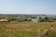 General view of Cregneash from Car Park.