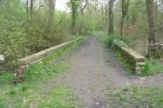 Bridge over Beck at Woodhall Lake - Woodhall Lane