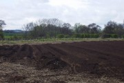 A potato field being prepared for planting