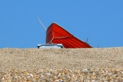 Boat at the top of Chesil Beach, Dorset