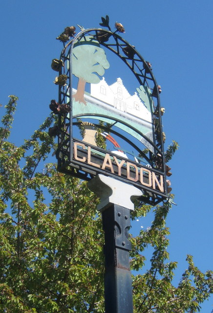 Claydon village sign