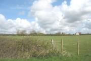 View across farmland to Tyddyn Bach