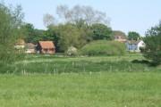 View across fields to Lodge Farm