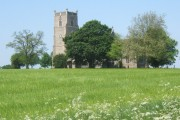 Springtime view of St Mary's Church, Market Weston