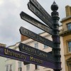 Oxford, signs in Cornmarket street