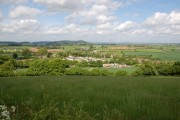 The village of Lea (Herefordshire) from Knightshill
