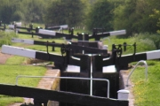 Tardebigge Flight on the Birmingham to Worcester canal.