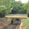 Footbridge with rebuilt parapet, Maryon Park