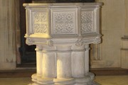 The church of St Michael & All Angels - baptismal font